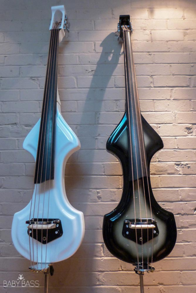 KK Baby Bass – Electric Upright Bass KB1 – White and Black