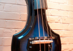 KK Baby Bass electric upright bass model KB1 blue burst body