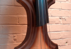 KK Baby Bass electric upright bass model KB1 metalic brown burst body