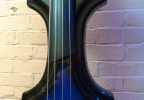 KK Baby Bass model KB1 blue burst custom body – electric upright bass