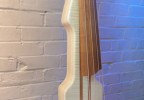 KK Baby Bass model KB2 flamed maple body side – electric upright bass