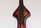 KK Baby Bass model KB1 vino tinto to iroco burst front – electric upright bass