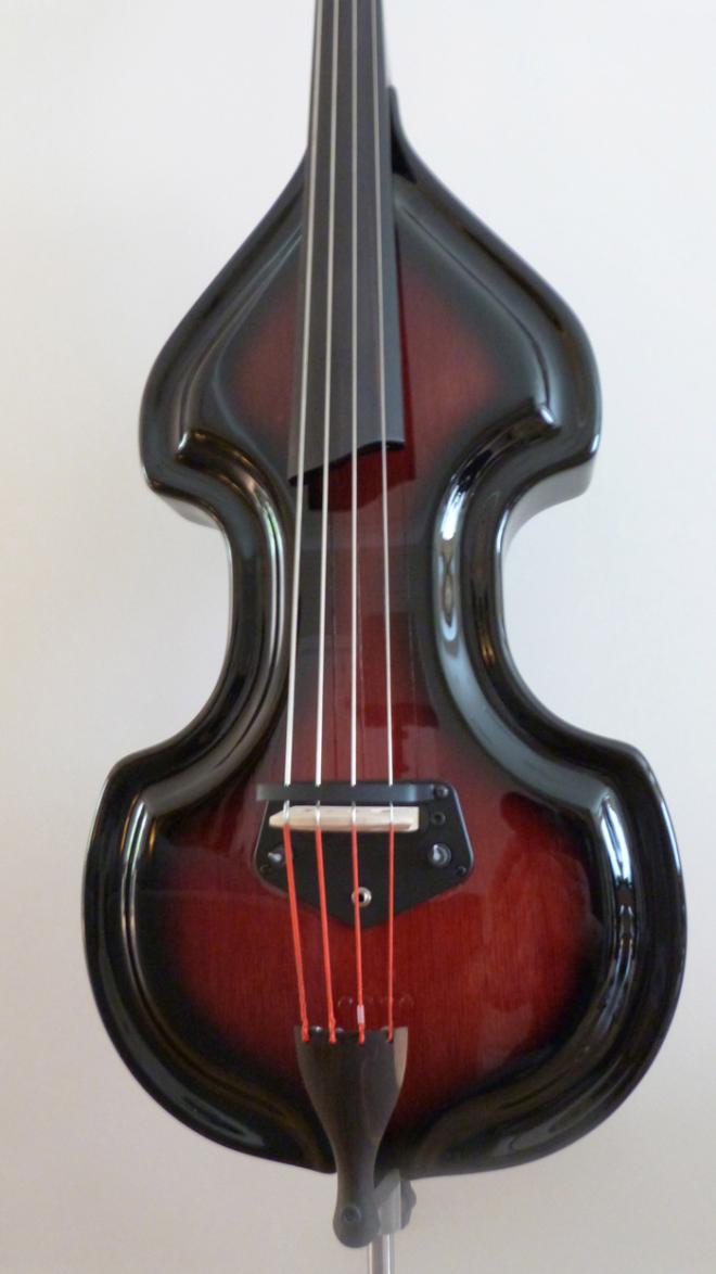 KK Baby Bass Traditional mahogany burst body – electric upright bass