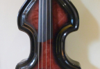 KK Baby Bass Traditional flame maple red burst body1 – electric upright bass