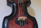 KK Baby Bass Traditional flame maple red burst body – electric upright bass