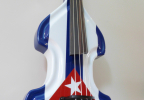 KK Baby Bass Traditional custom Cuban flag – electric upright bass