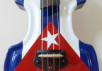 KK Baby Bass Traditional custom Cuban flag body – electric upright bass