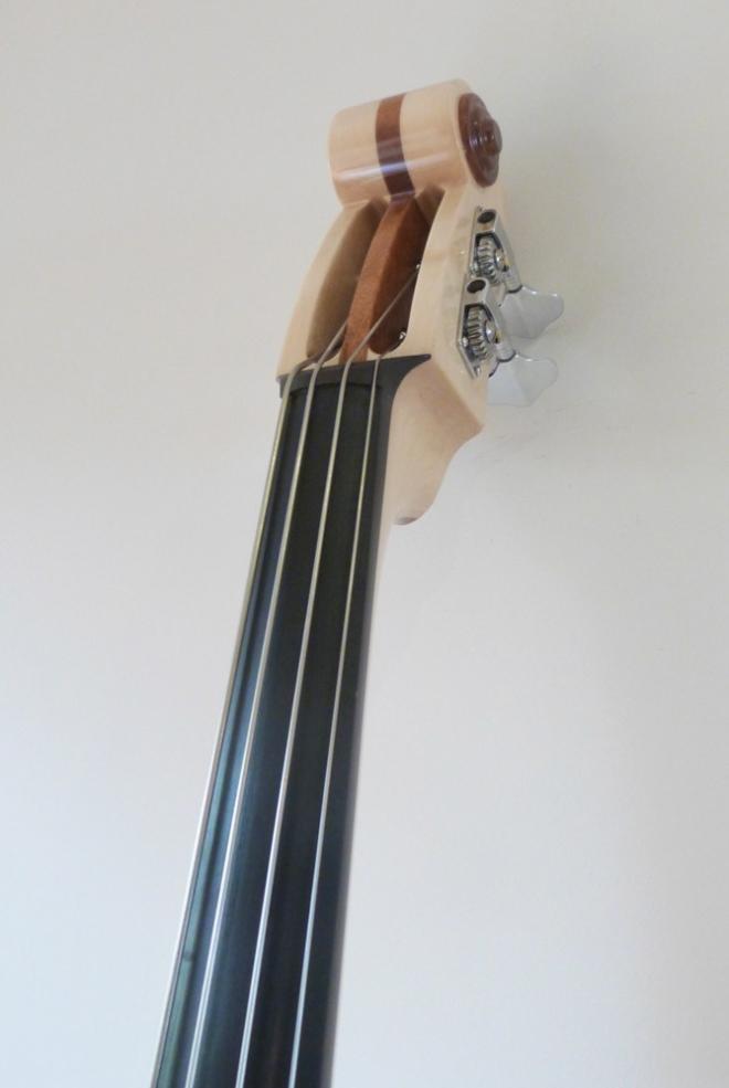 KK Baby Bass Traditional mahogany burst neck – electric upright bass