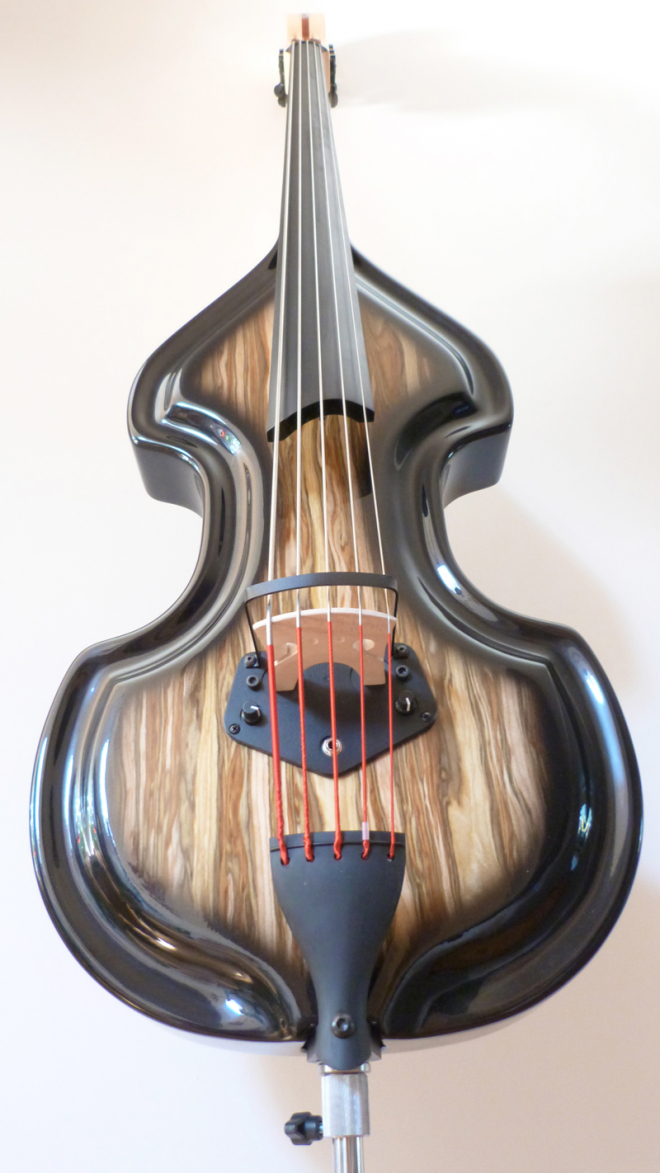 KK Baby Bass Traditional 5 string spanish olive– electric upright bass