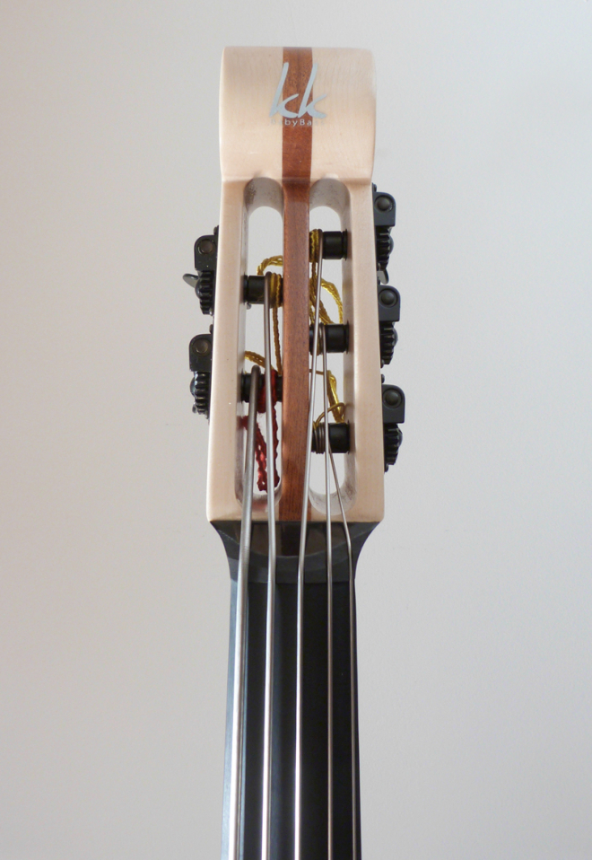 KK Baby Bass Traditional 5 string spanish olive headscroll – electric upright bass