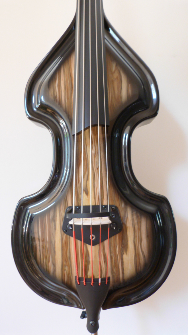 KK Baby Bass Traditional 5 string spanish olive body– electric upright bass